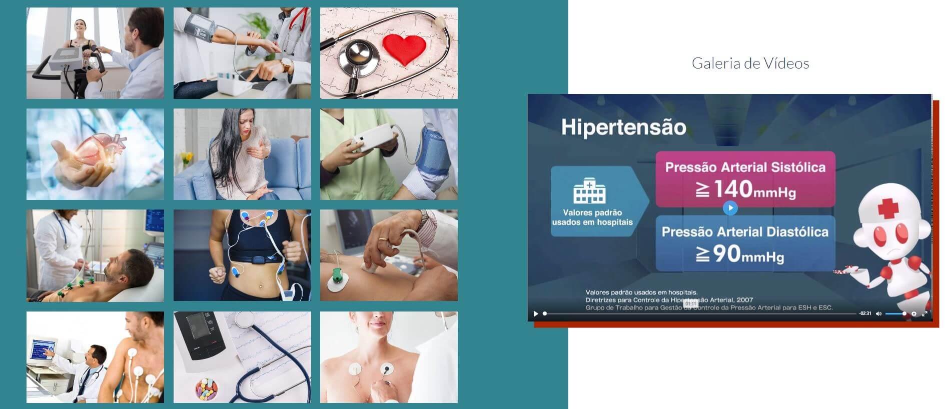 Área para Fotos e Vídeo do Anúncio Hotsite Corpo Informa
