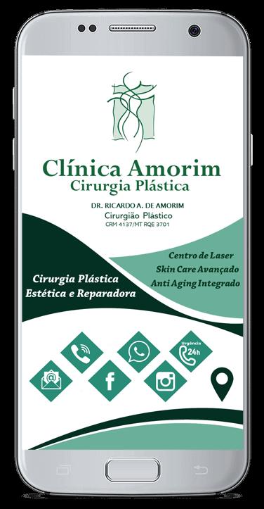 Cartão de Virtual Clinica Amorim