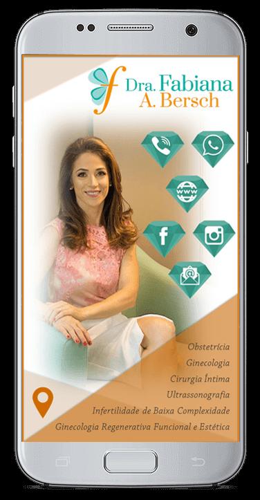 Cartão de Virtual Dra. Fabiana Bersch